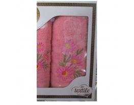Подарочный набор махровых полотенец Ромашки фото