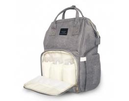 Сумка рюкзак для мамы Momy Bag Серая фото 3