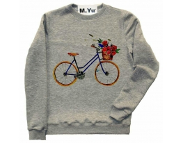 Свитшот Велосипед с цветами фото 1