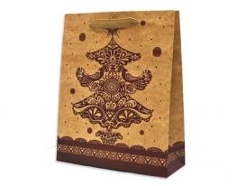 Подарочный пакет 44*32*10 см Кружевная елка фото