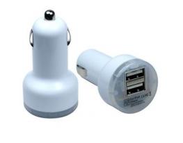 USB адаптер(переходник) от прикуривателя Double белый фото