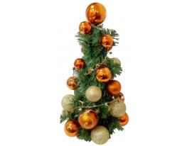 Новогодняя елка с игрушками Золотистая 33см фото