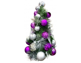 Новогодняя елка с игрушками Фиолетовая 33см фото