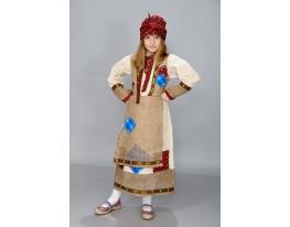 Детский карнавальный костюм Баба Яга фото