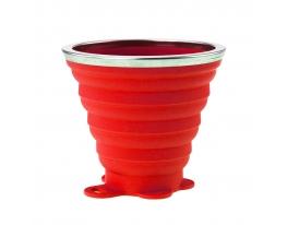 Складной стакан VERTO силиконовый, 260 мл Красный фото