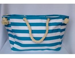 Пляжная текстильная сумка с морским принтом фото