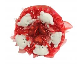 купить Букет из мишек Влюбленность
