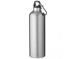 Алюминивая бутылка с карабином, 770мл Серая
