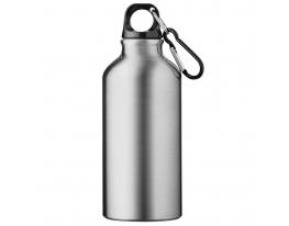 Алюминивая спортивная бутылка с карабином фото