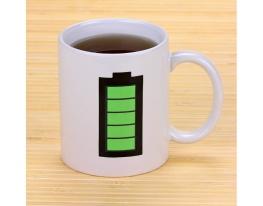 Чашка-хамелеон Батарейка Белая фото