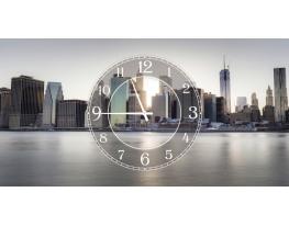 Часы на холсте Нью-Йорк фото