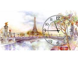 Часы на холсте Опять хочу в Париж фото