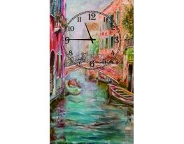 Часы на холсте Венеция фото