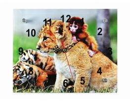 Часы настенные Мартышка и Львенок фото