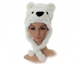 Шапка Медведь белая фото