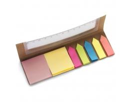Набор цветных стикеров с линейкой фото