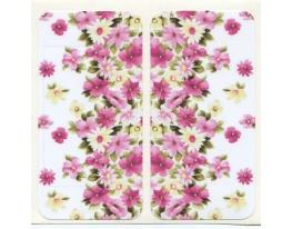 Виниловая наклейка для iPhone 4/4s Цветы + заставка фото