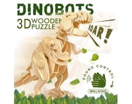 Деревянный 3D конструктор «Динозавр Т-Rex» фото 8