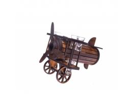 Подарочный набор Бар настольный Самолет с рюмками фото
