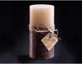 Свеча двухцветная Ванильно-шоколадная 160х80 см круглая фото 1