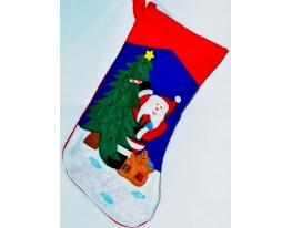 Новогодний носок Дед Мороз фото