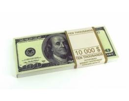 Денежный блокнот 100 долларов фото