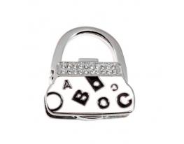 Вешалка для сумки Клатч Белый Алфавит фото