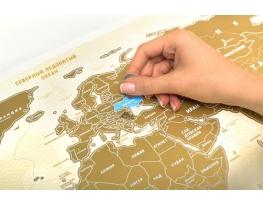 Скретч карта мира Scratch World Map на русском языке фото 1