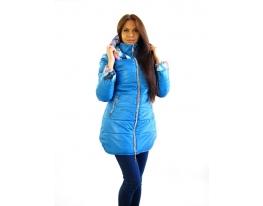Куртка зимняя голубая с цветами Амели фото