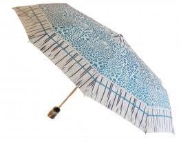Зонт Антишторм автомат Голубой леопард фото