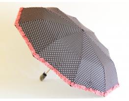 Зонт Антишторм с рюшами Ferrero Черный фото 6
