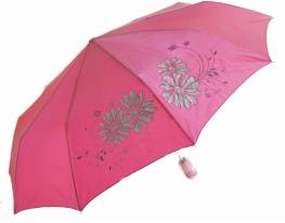 Зонт антишторм полуавтомат Цветы Хамелеон розовый фото