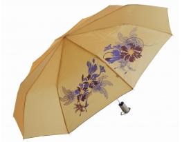 Зонт антишторм полуавтомат Цветы Хамелеон бежевый фото