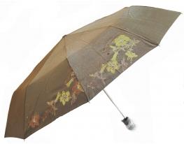 Зонт антишторм полуавтомат Цветы Хамелеон бронзовый фото