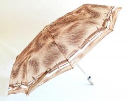 Зонт автомат Антишторм Love Rain Коричневый с листочками фото 2