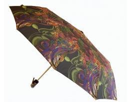 Зонт автомат Антишторм Love Rain Завитушки черный фото 1