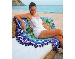 Пляжный коврик Мандала фиолетовый фото