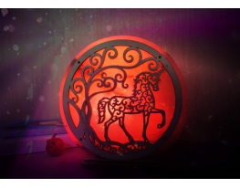 Соляная лампа Единорог фото