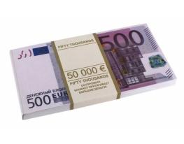 Денежный блокнот 500 евро фото