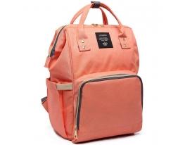 Сумка рюкзак для мамы Momy Bag Персиковая фото
