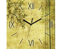 Часы квадратные Зеленый Бамбук фото