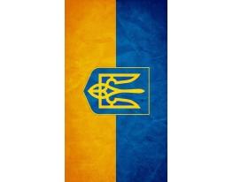 Виниловая наклейка на телефон М Флаг Украины фото