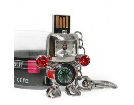 Флешка 8 Gb Робот с часами и компасом фото