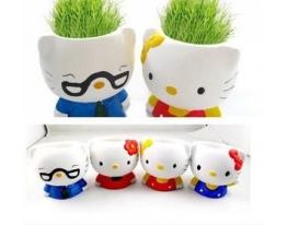 Керамический травянчик с семенами Hallo Kitty (Хеллоу Китти) фото