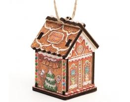 Елочная игрушка Имбирный домик фото