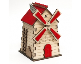 Копилка Мельница с красной крышей фото