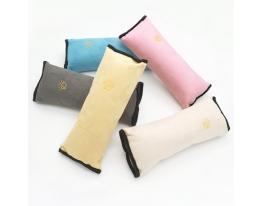Подушка-накладка на ремень безопасности под голову Бежевая фото 7