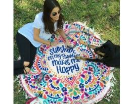 Пляжный коврик Happy фото