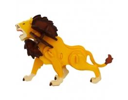 Деревянный 3D конструктор-раскраска «Лев» фото