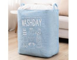 Корзина складная для белья и игрушек Washday Голубая фото